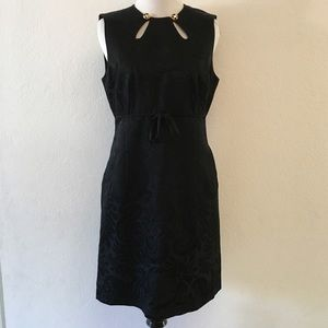 Milky Black Sheath keyhole Dress Size 4